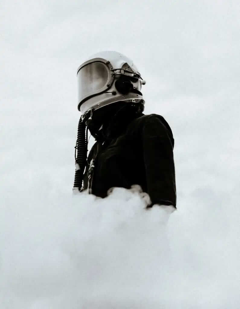 Astronaut appearing through the fog. Extracting useful data.