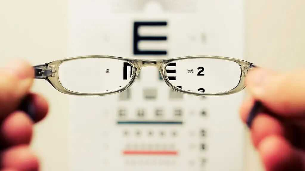 Eye Glass Test. Vision for the mission.